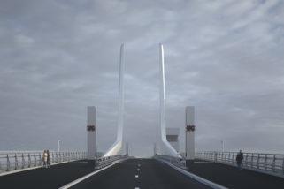 Artist impression of Gull Wing Bridge 8