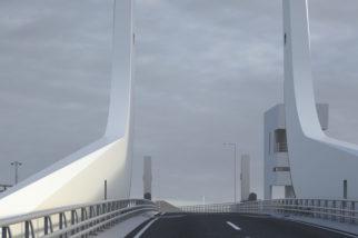 Artist impression of Gull Wing Bridge 6